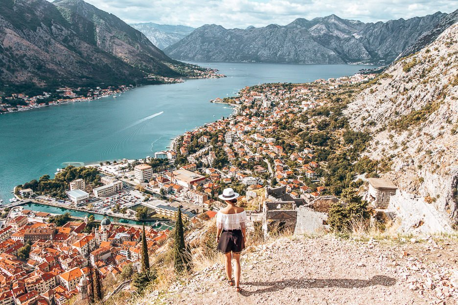 Overlooking the Bay of Kotor from St John's Fortress, Montenegro