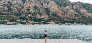 On the shore of the Bay of Kotor, Montenegro