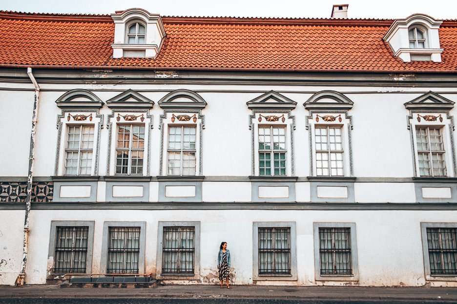 Wandering the streets of Vilnius Lithuania
