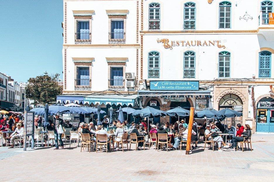 Cafe in Essaouira's main square, Morocco