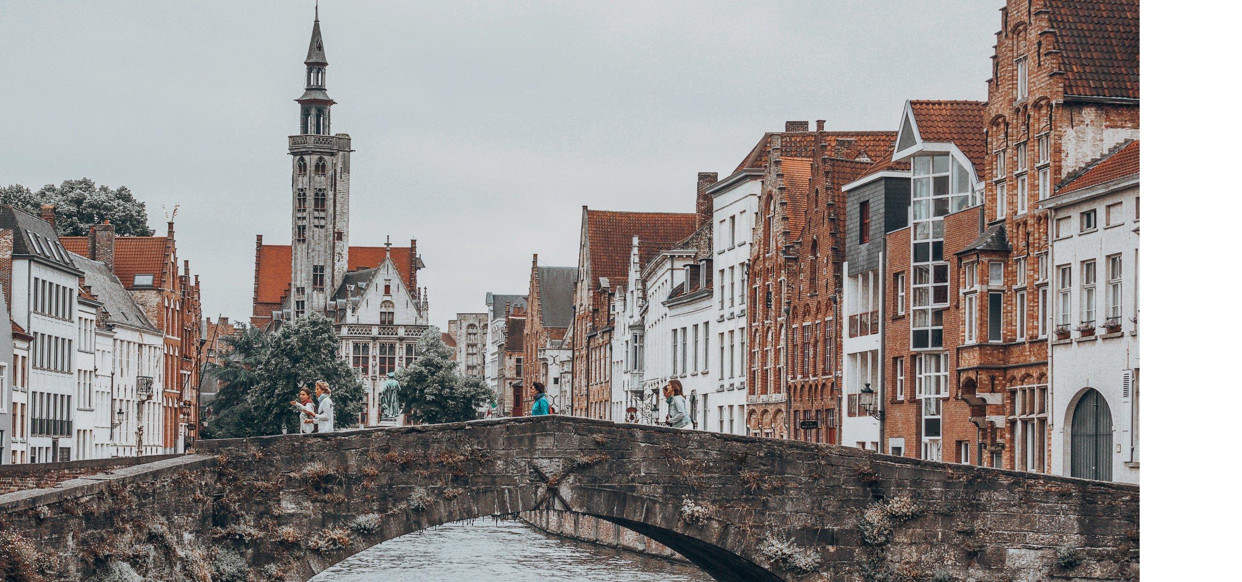 Canals in Bruges - 24 Hours In Bruges