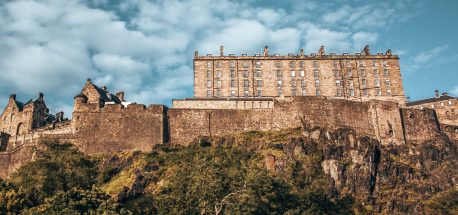 Edinburgh Castle beneath a blue sky, Edinburgh