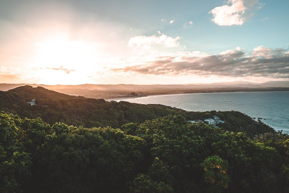 Sunrise view from Cape Byron Lighthouse, Byron Bay Travel Guide