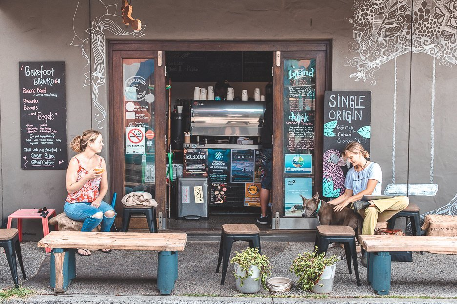 Cafe goes at Barefoot Coffee Roasters, Byron Bay