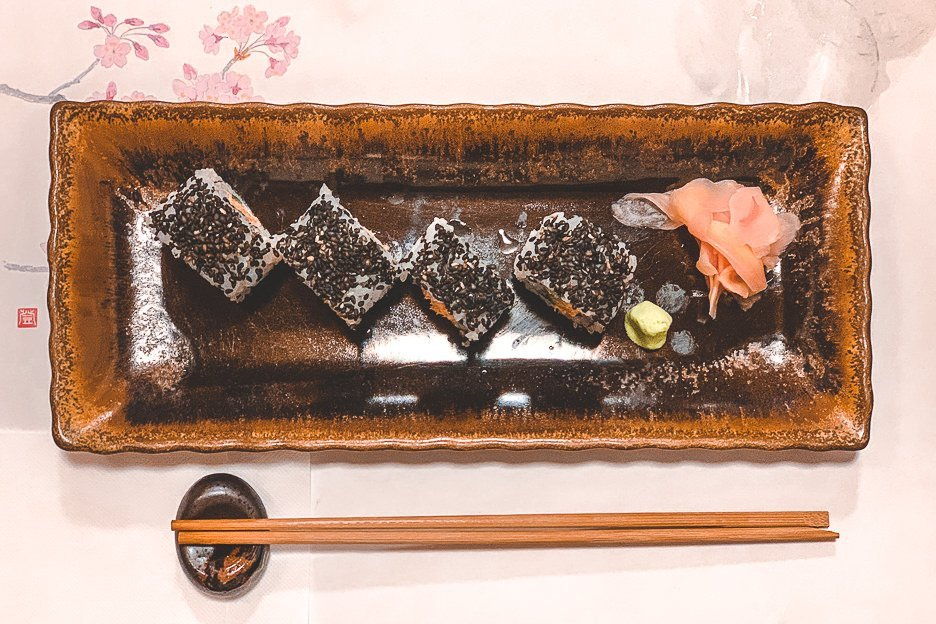 A plate of sushi - Japanese Food in Tokyo