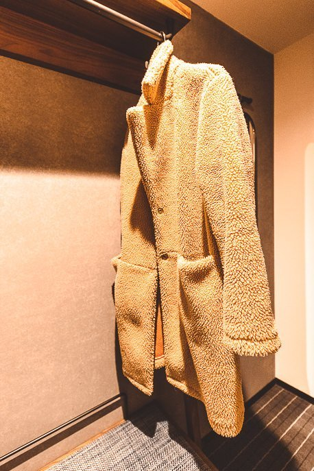 Minimal hanging wardrobe space, Double Standard Room at The Lively Azabujuban Tokyo