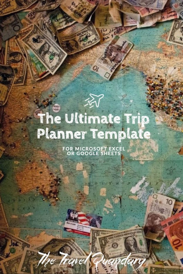 Pin to Pinterest | Trip Planner Template for Microsoft Excel or Google Sheets