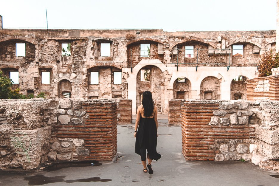 Exploring the ruins of Diocletian's Palace in Split Croatia