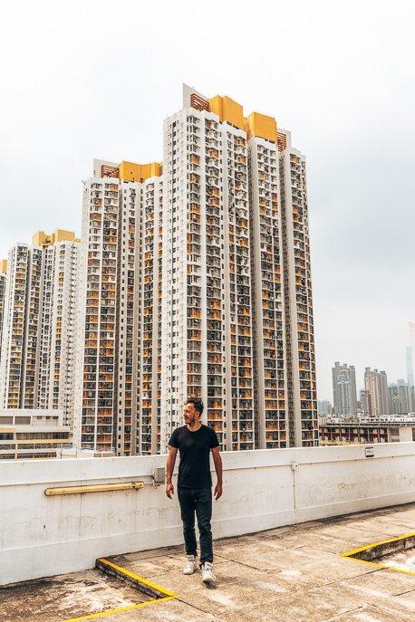 On the rooftop of the Jockey Creative Club Creative Arts Centre, Hong Kong