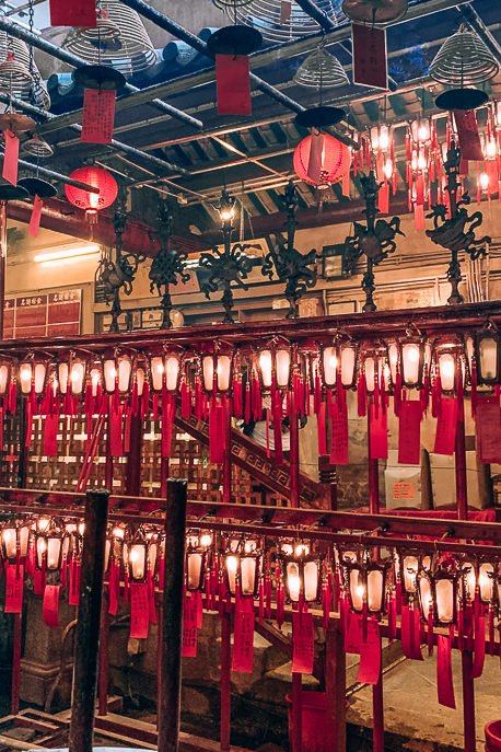 what to do in Hong Kong - visit Man Mo Temple