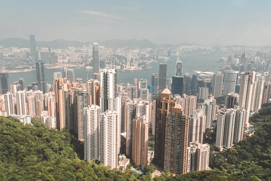 View of Central from the top of Victoria Peak, Hong Kong