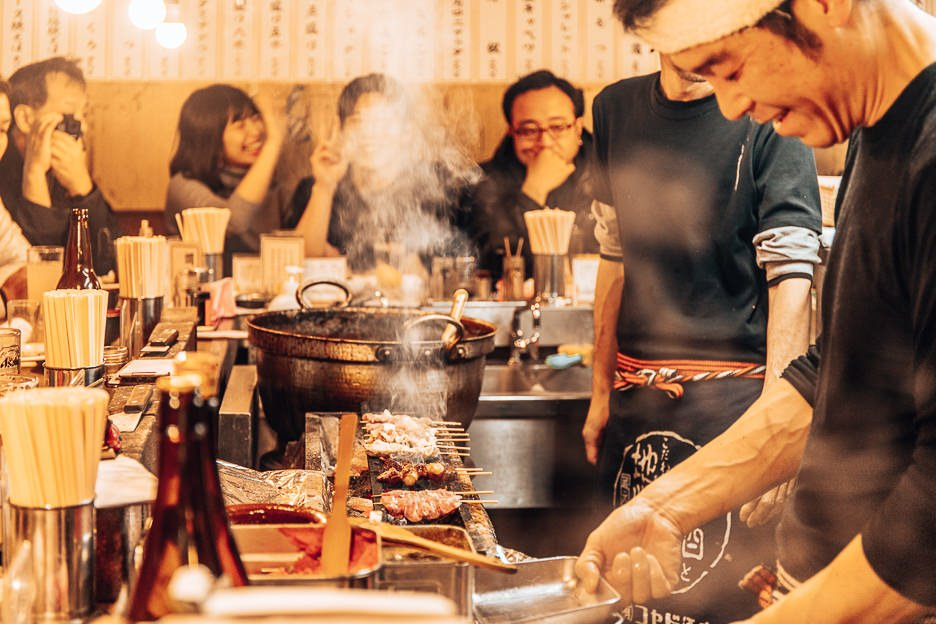 Dining in an izakaya in Omoide Yokocho | Shibuya where to eat