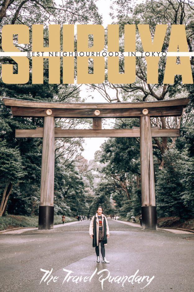 Pin Photo: Shibuya Tokyo - Best Neighbourhoods in Tokyo Japan