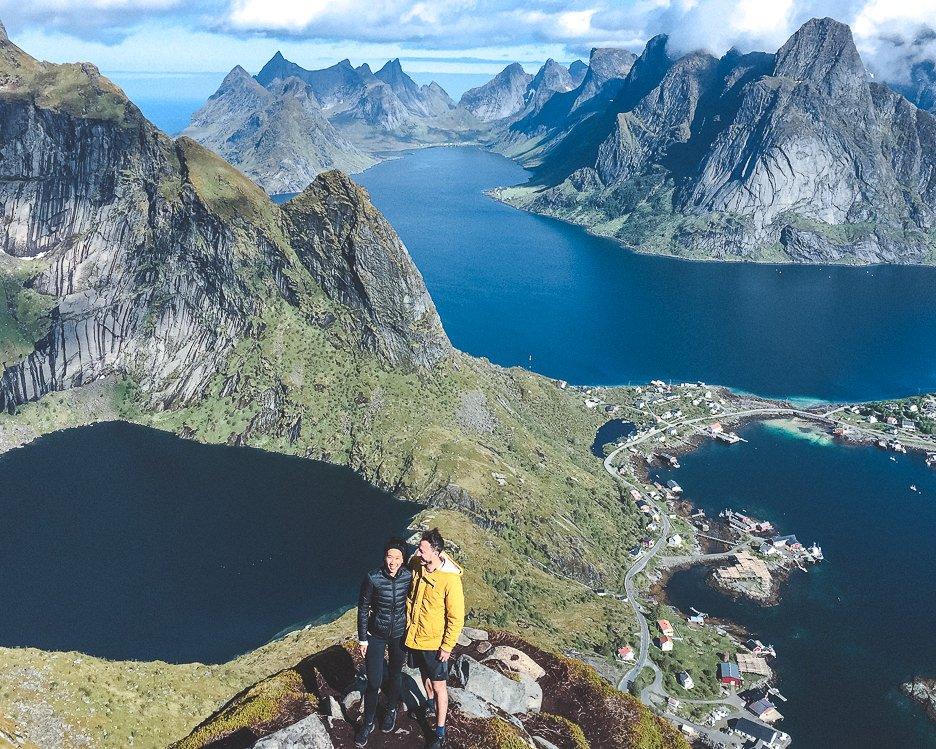 Hiking Reinebringen in Lofoten Norway: A story of overcoming mud and FOMO | hiking reinebringen 2